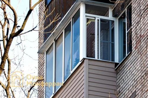 14 Холодное остекление балкона в брежневке, ул. Лени Голикова