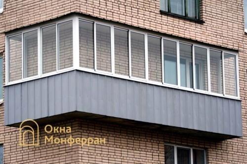 15 Остекление углового балкона в брежневке пр Ветеранов