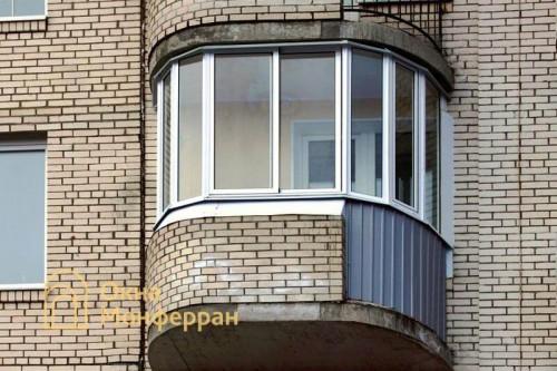 17 Остекление полукруглого балкона, ул. Туристская