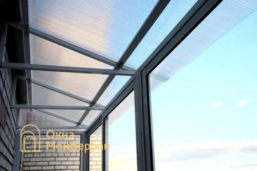 26 Крыша из поликарбоната на балконе Авиагородок