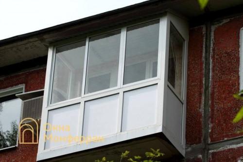 27 Остекление балкона в хрущевке ул Гранитная