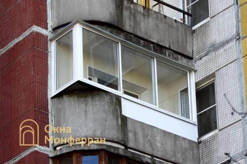 33 Остекление балкона с выносом в 137 серии шос Пулковское