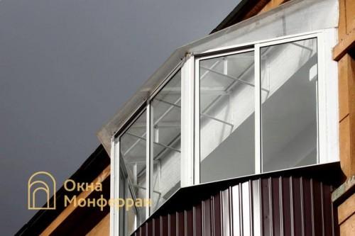 34 Остекление полукруглого балкона с крышей, ул. Швецова