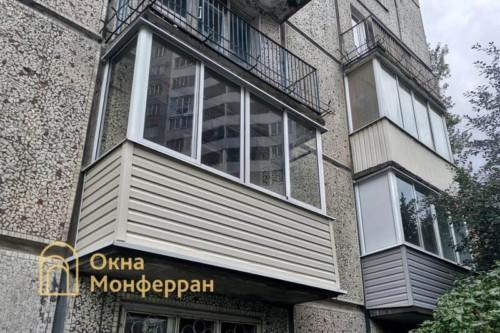 36 Холодное остекление балкона в хрущевке, ул. Софийская
