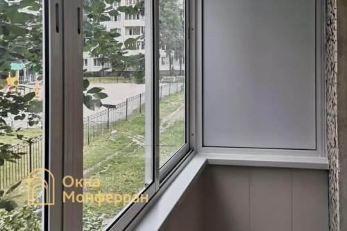 37 Холодное остекление балкона в хрущевке, ул. Софийская