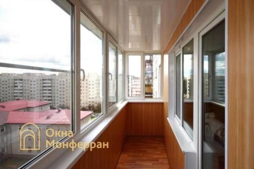 002 Отделка балкона панелями ПВХ, пос. Сертолово