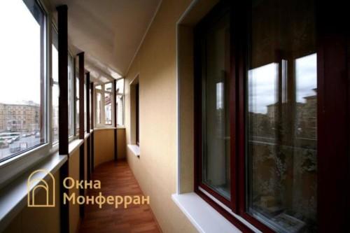 003 Отделка балкона с крышей, ул. Варшавская