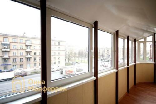 004 Отделка балкона с крышей, ул. Варшавская
