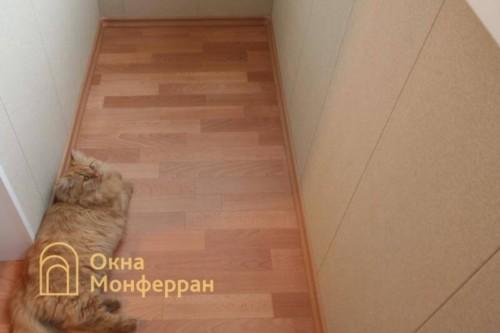 009 Отделка балкона с выносом, пр. Пятилеток