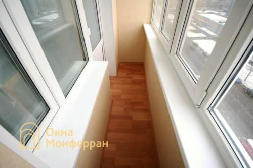 011 Отделка балкона в 137 серии, ул. Олеко Дундича
