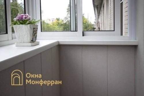 040 Отделка балкона с выносом, пр. Юрия Гагарина