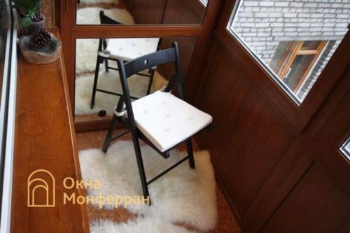 053 Отделка балкона пробкой, пр. Новоизмайловский