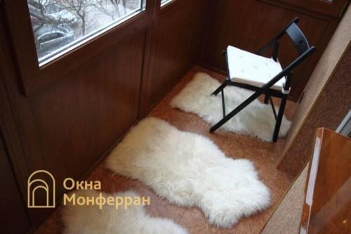 054 Отделка балкона пробкой, пр. Новоизмайловский