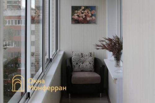 074 Отделка углового балкона, пр. Гражданский
