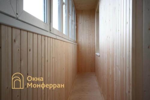 080 Отделка балкона вагонкой, пр. Ленинский