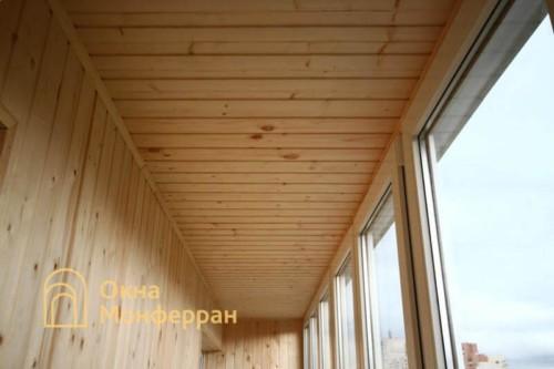 081 Отделка балкона вагонкой, пр. Ленинский