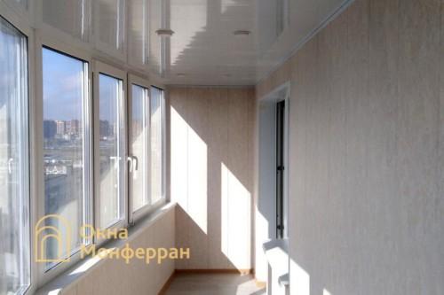 084 Отделка балкона под ключ, ул. Композиторов