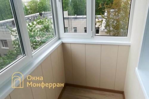 085 Отделка балкона