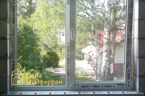 05 Установка пластиковых окон в коттедже