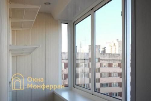 07 Отделка балкона с выносом подоконника пр Науки