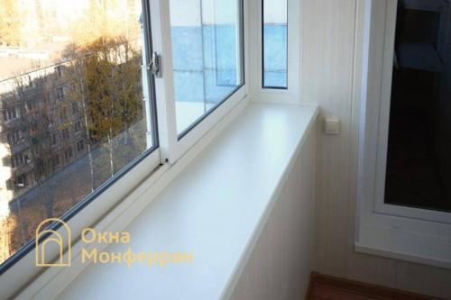 10 Отделка балкона с выносом подоконника пр Науки