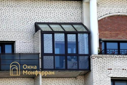 19 Остекление балкона с крышей и боковым выносом ул Нахимова