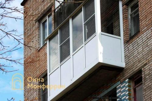 20 Остекление балкона с выносом пола пос Колтуши