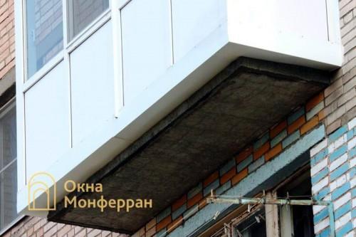 21 Остекление балкона с выносом пола пос Колтуши