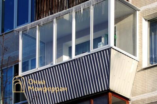 26 Остекление балкона с выносом в хрущевке шос Ланское
