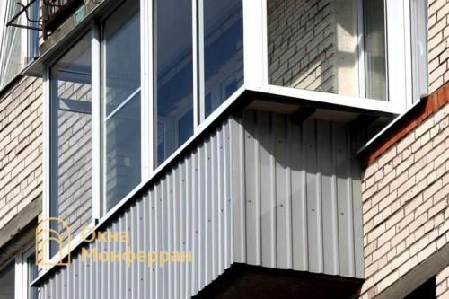 28 Остекление балкона с боковым выносом ул Солдата Корзуна