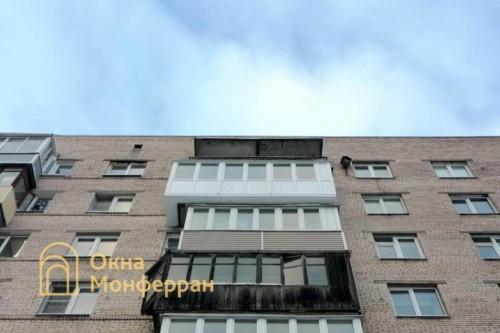 36 Остекление балкона с выносом пола, пр. Руставели