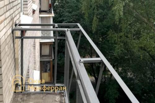 02 Сварочные работы по выносу остекления балкона