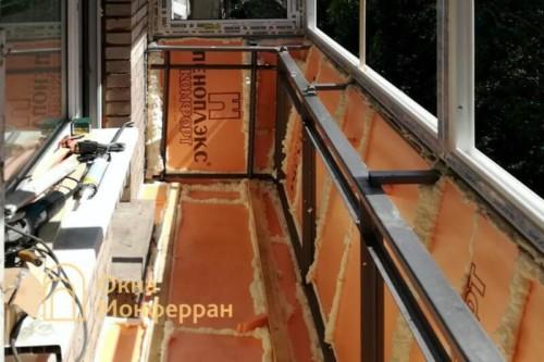 09 Утепление балкона пеноплексом