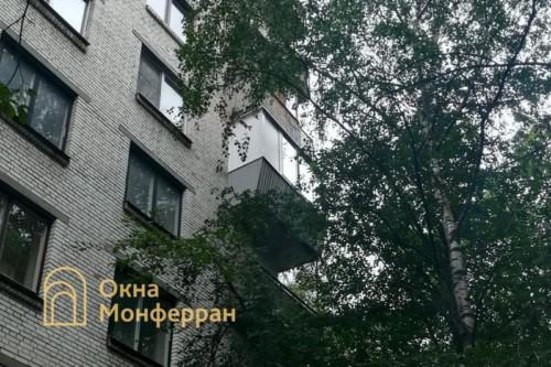 16 Остекление углового балкона с выносом