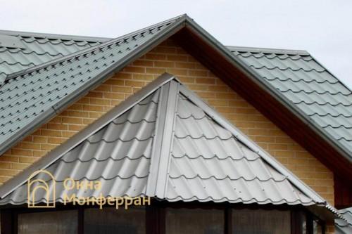 02 Крыша из металлочерепицы на балконе пос Невская Дубровка