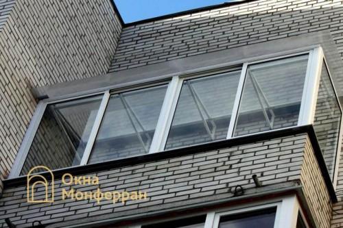 08 Остекление балкона с прозрачной крышей Авиагородок