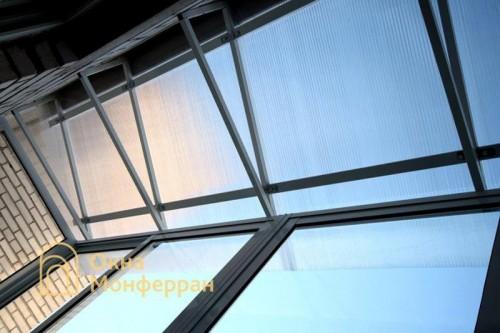 10 Крыша из поликарбоната на балконе Авиагородок