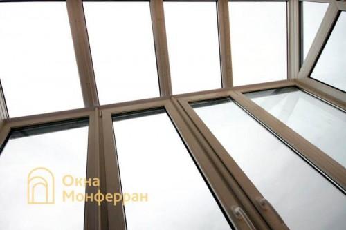 14 Остекление балкона с крышей из стеклопакетов ул. Ольминского