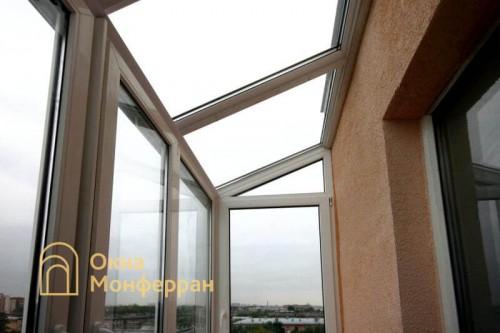 15 Остекление балкона с крышей из стеклопакетов ул Ольминского