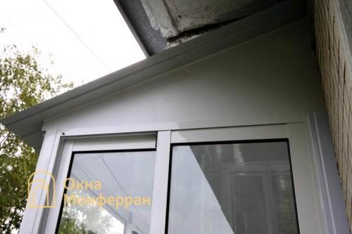 17 Остекление балкона с крышей в хрущевке пр. Юрия Гагарина