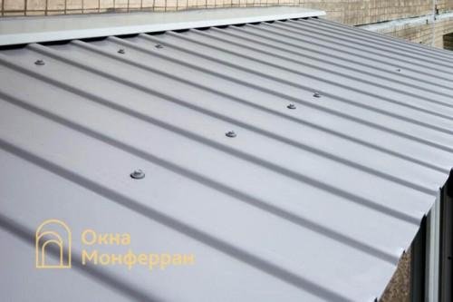 18 Остекление балкона с крышей в хрущевке пр. Юрия Гагарина