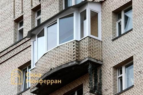 21 Остекление балкона с крышей пр Комендантский