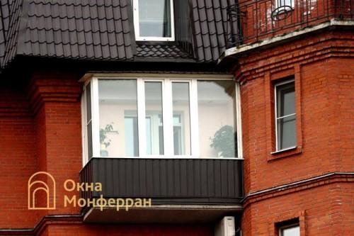 27 Остекление балкона с крышей ул 2-я Алексеевская