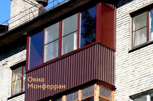 28 Теплое остекление балкона с крышей пос. Отрадное