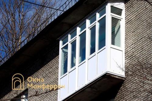 29 Теплое панорамное остекление балкона с крышей пр Средний ВО