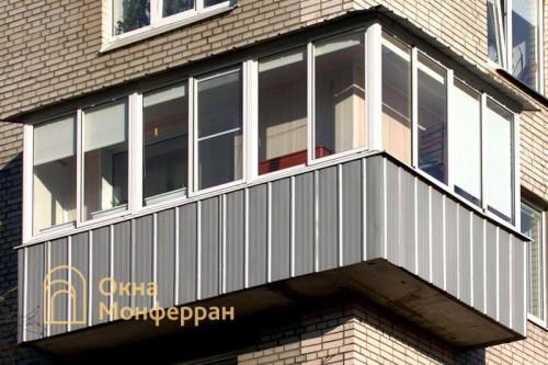 30 Остекление углового балкона с крышей ул Лени Голикова