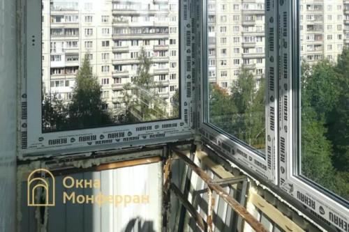 05 Установка остекления балкона с выносом