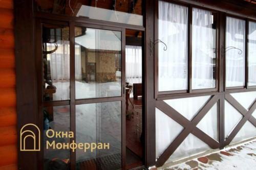 11 Холодное раздвижное алюминиевое остекление веранды гор Пушкин