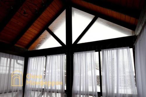 12 Холодное раздвижное алюминиевое остекление веранды, гор. Пушкин