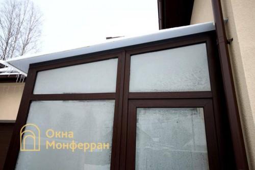 14 Теплое металлопластиковое остекление тамбура, гор. Петродворец